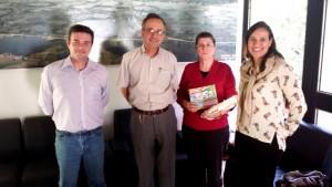 Luciano Chiochetta, Secretário Fernando Lamas, Terezinha Feldens, Marina Dobashi